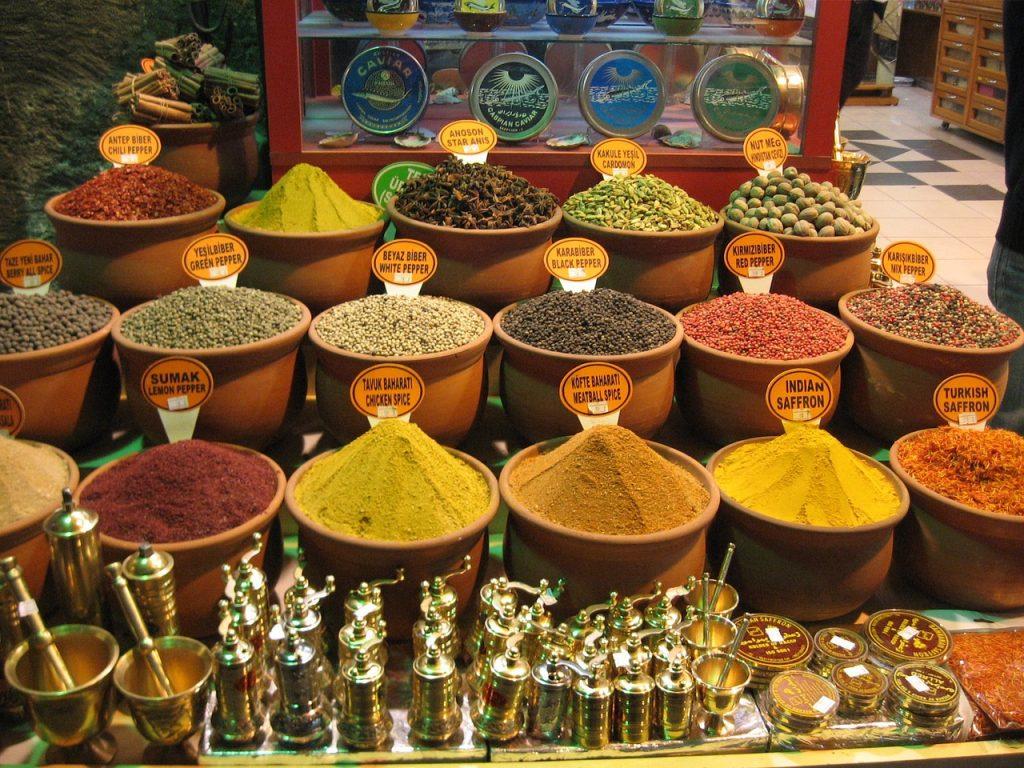 Kryddor till salu i Istanbul